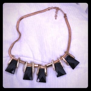 Jewelry - Chunky black and Gold Necklace